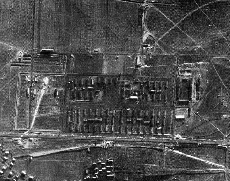 Auschwitz from the air, 1944.
