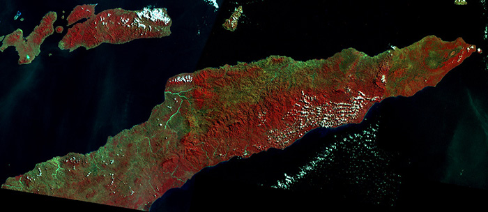 1979 Mosaic of Landsat MSS images of East Timor.